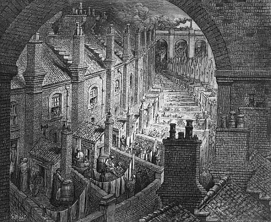 Gustave Dore's Over London By Rail