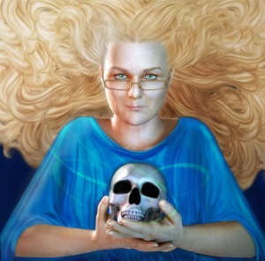 RayneHall - Fantasy Horror Author - reduced size Portrait   by Fawnheart