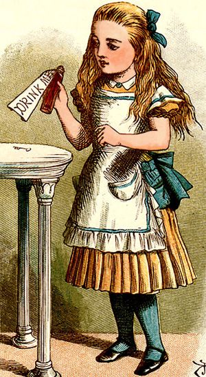 Alice_drink_me John Tenniel 1865