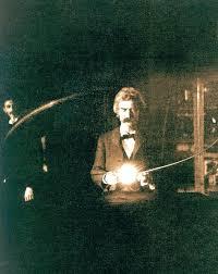Mark Twain in Nikola Tesla's Laboratory