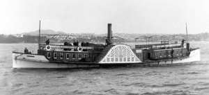 The Paddle Steamer 'Victoria' in Auckland