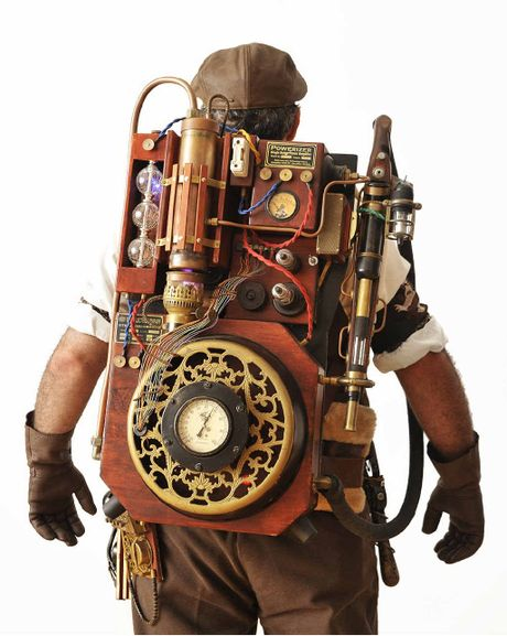 Matt the Tinkerer and his Steampunk Ghostbuster's Harness