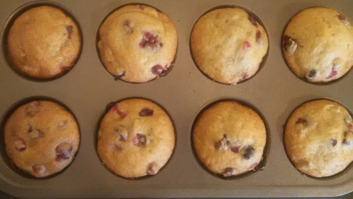 Zucchini Cranberry Orange Muffins