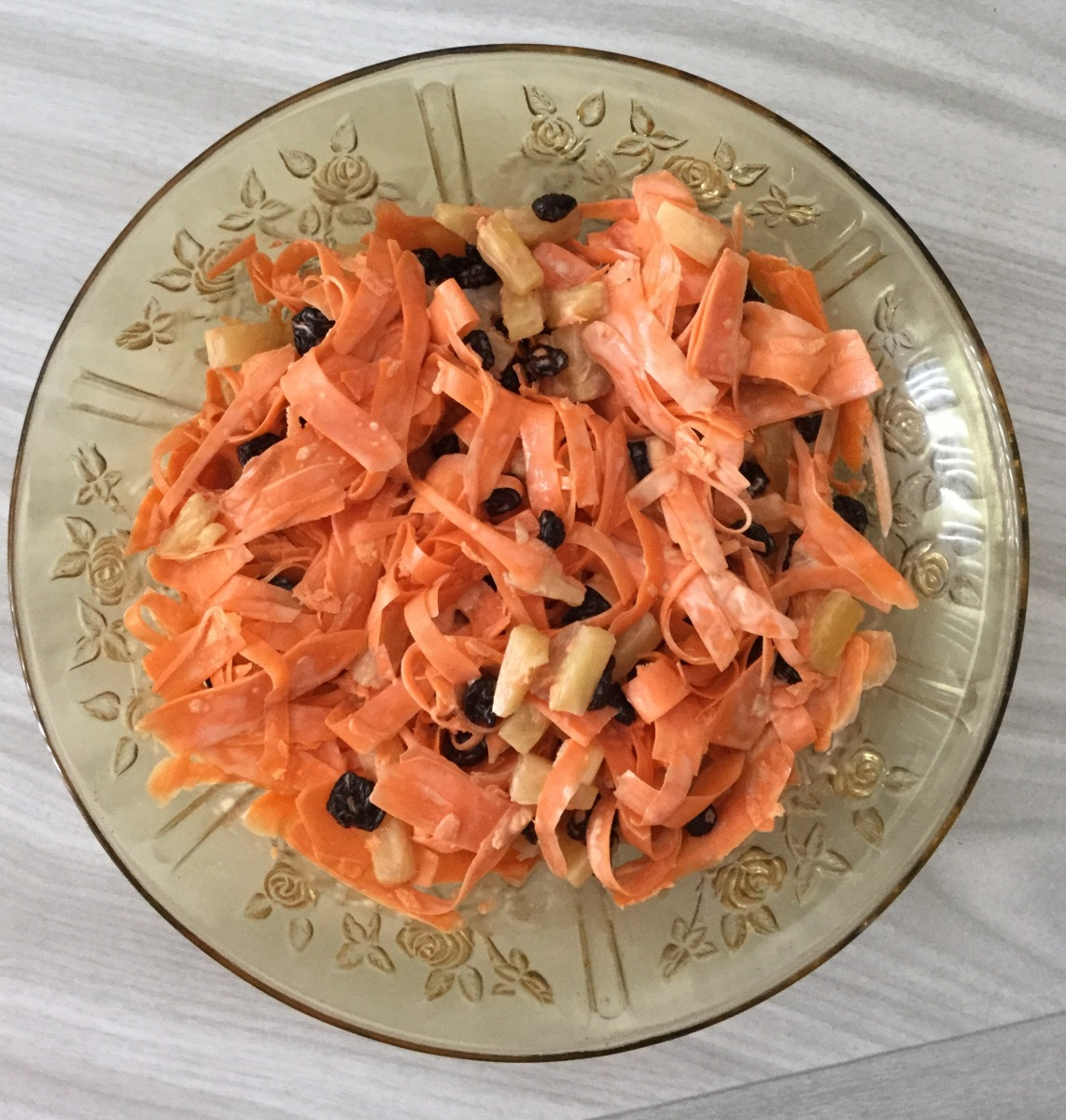 Easy Holiday Side Dish--Carrot Salad