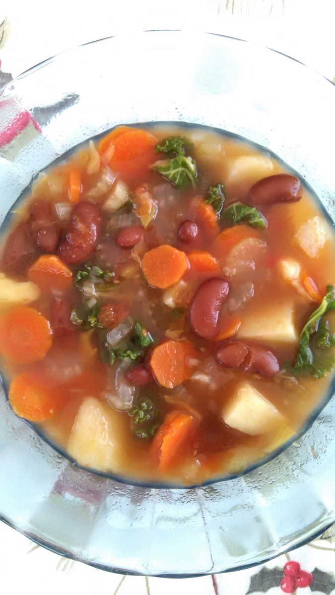 Breene's Vegetable Soup with Kale